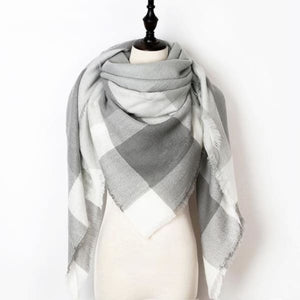 Stunning Plaid Cashmere Blend Scarf - number 08 - scarf