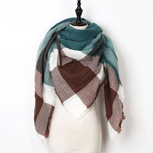 Stunning Plaid Cashmere Blend Scarf - number 11 - scarf