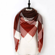 Load image into Gallery viewer, Stunning Plaid Cashmere Blend Scarf - number 14 - scarf