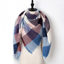 Load image into Gallery viewer, Stunning Plaid Cashmere Blend Scarf - number 17 - scarf