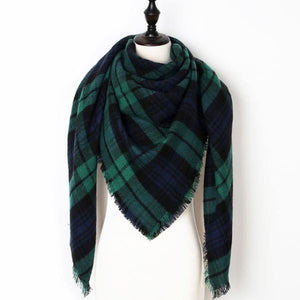 Stunning Plaid Cashmere Blend Scarf - number 18 - scarf