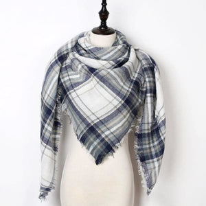 Stunning Plaid Cashmere Blend Scarf - number 27 - scarf