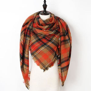 Stunning Plaid Cashmere Blend Scarf - number 29 - scarf