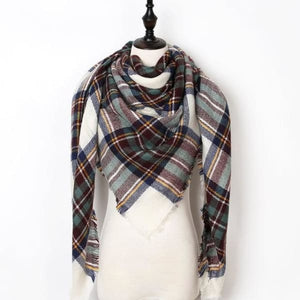 Stunning Plaid Cashmere Blend Scarf - number 31 - scarf
