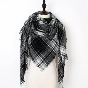 Stunning Plaid Cashmere Blend Scarf - number 32 - scarf