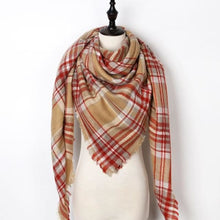 Load image into Gallery viewer, Stunning Plaid Cashmere Blend Scarf - number 34 - scarf