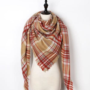 Stunning Plaid Cashmere Blend Scarf - number 34 - scarf