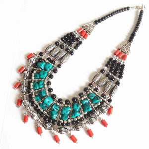 Tibetan Multi-Layer Beaded Necklace - Necklace