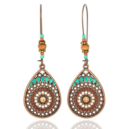 Tribal Dangle Drop Earrings - earrings