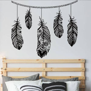 Tribal Feather Wall Decals - wall decal
