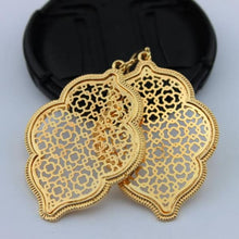 Load image into Gallery viewer, Two Tone Dangle Moroccan Earrings - E3014 Gold - earrings