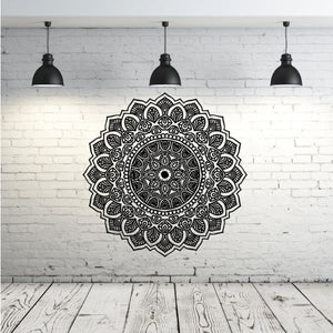 Wall Decal Yoga with Moroccan Pattern - wall decal