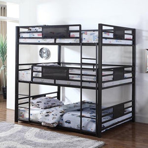 TRIPLE Full Bunk Bed by Coaster 460394 (2 cartons)