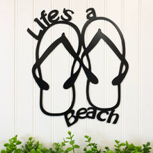 Load image into Gallery viewer, Life's A Beach Flip Flops