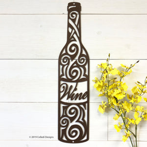 Swirl Wine Bottle
