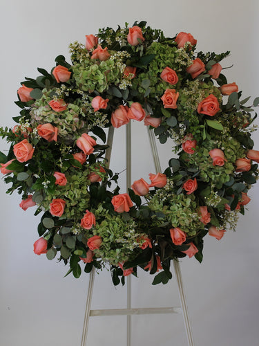 Wreath With 50 Roses