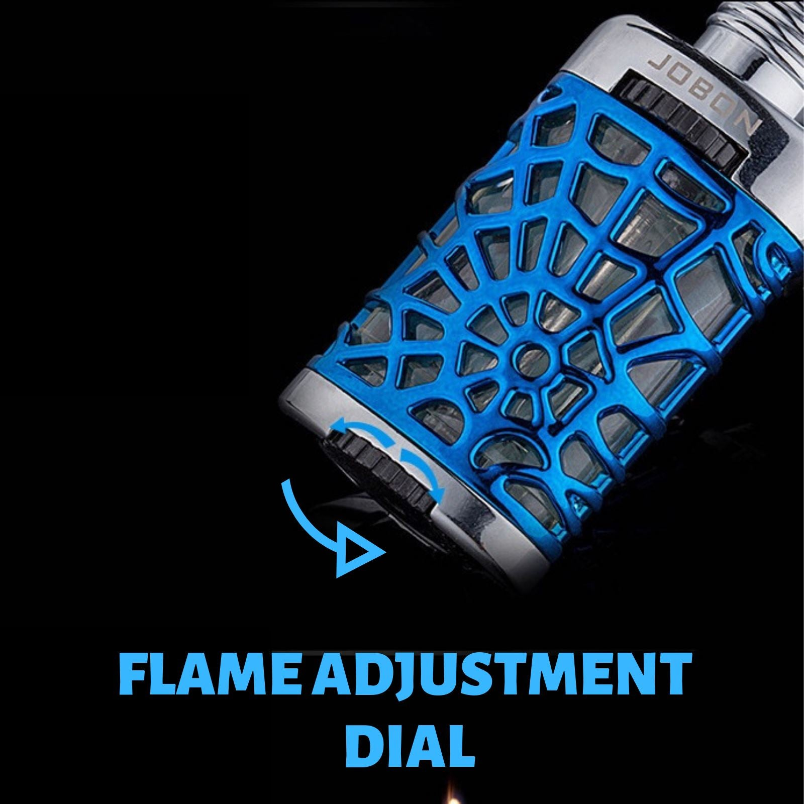 Jobon Floating Flame Lighter Spider Web Design Blue - Cheeky Ninjas