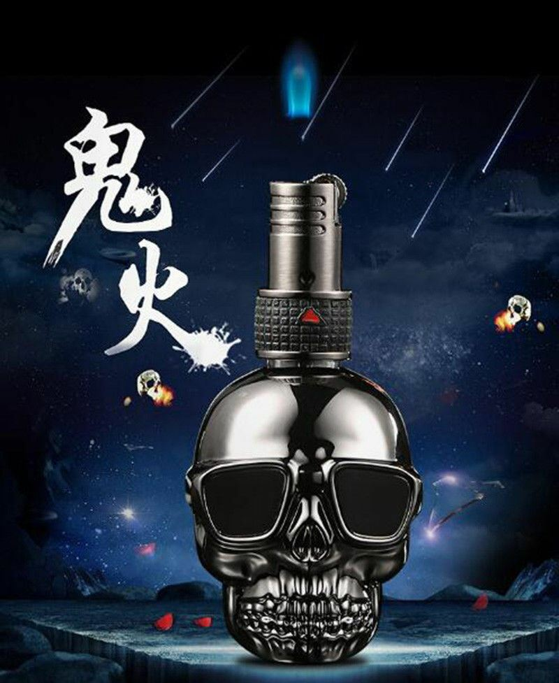 Skull Lighter Floating Flame Gold - Cheeky Ninjas