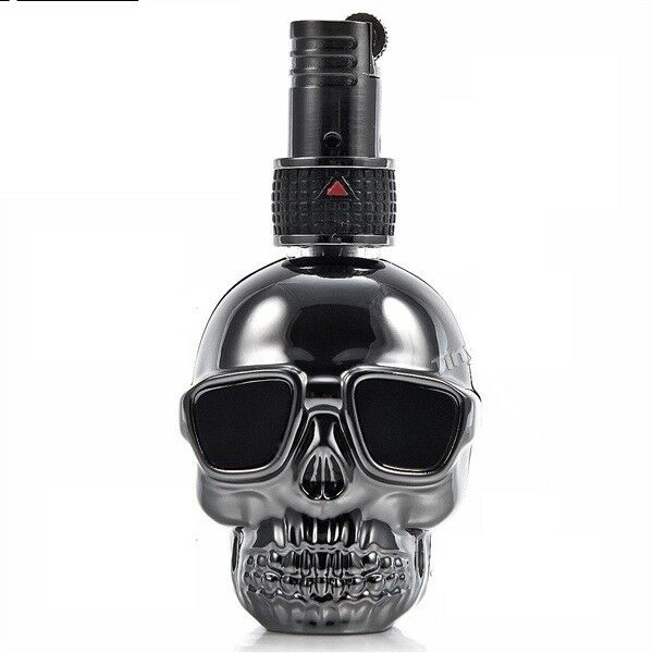 Skull Lighter Floating Flame Black - Cheeky Ninjas
