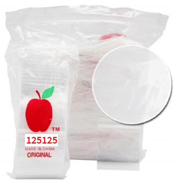 Bulk Lot Clear Apple Baggies 1000pcs, Apple Mini Ziplock Bags,Cheeky Ninjas