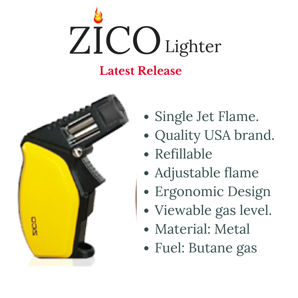 Zico ZD58 Single Jet Flame Torch Lighter, Lighters,Cheeky Ninjas
