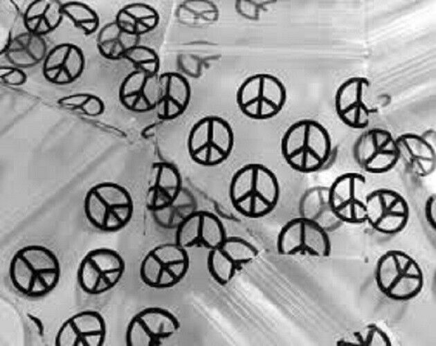 Apple Mini Ziplock Bags Black Peace Symbol  1515, Apple Mini Ziplock Bags,Cheeky Ninjas