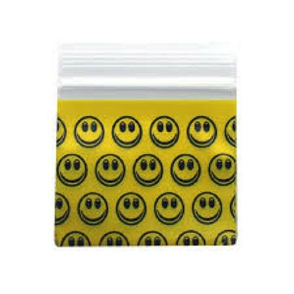 Apple Mini Ziplock Bags Smiley Face 125125 - Cheeky Ninjas