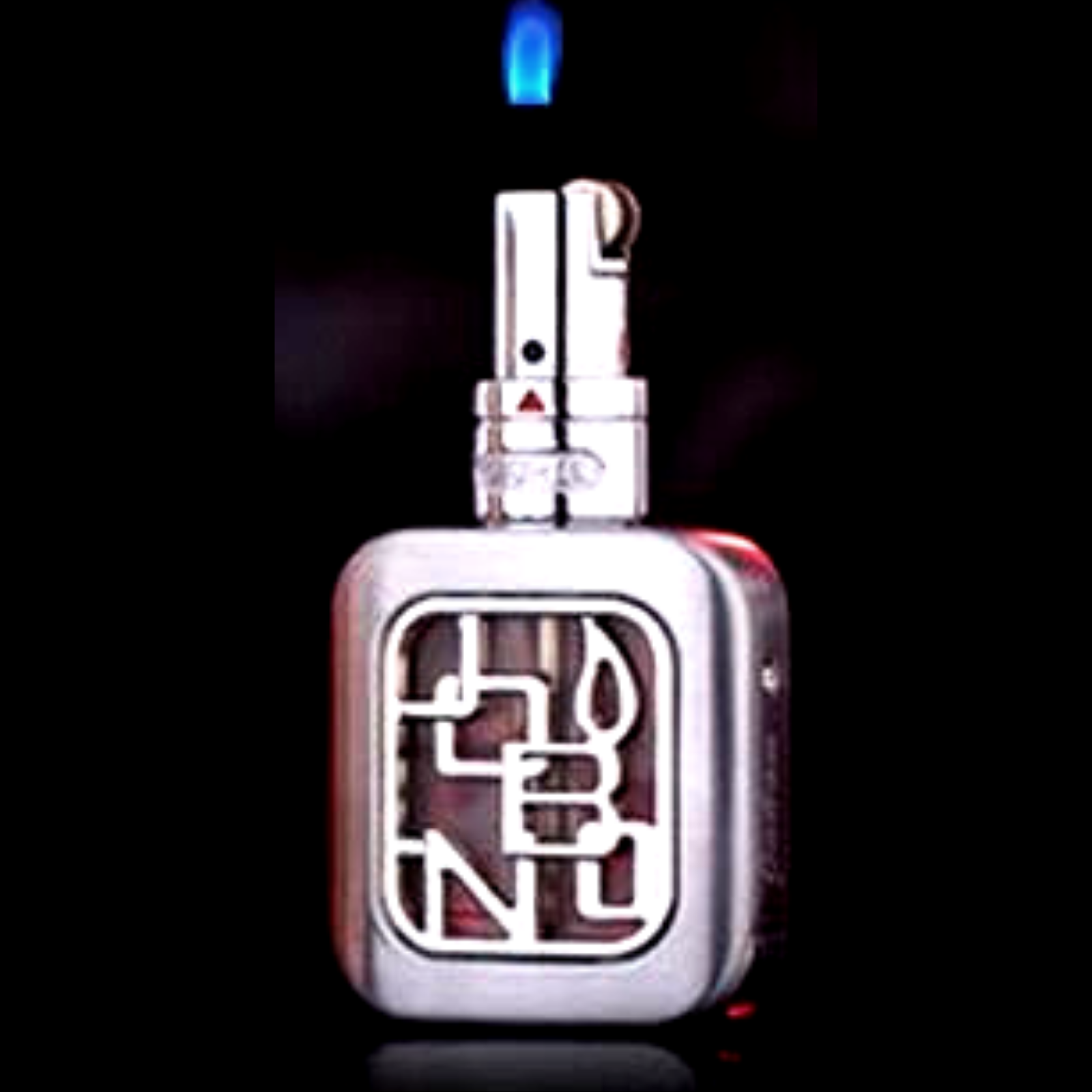 Jobon Floating Flame Lighter - Logo Design Silver - Cheeky Ninjas