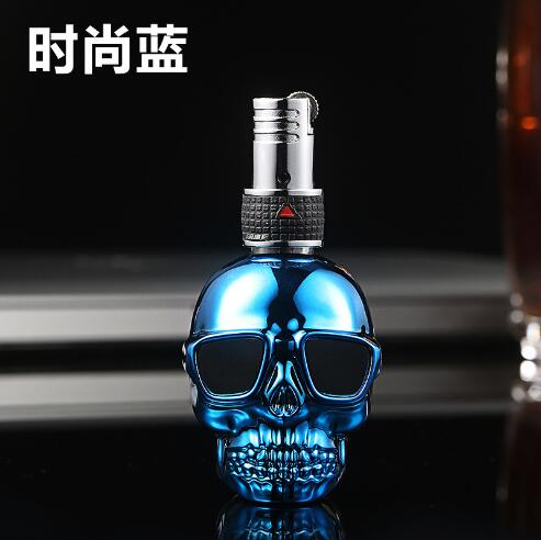 Skull Lighter Floating Flame Blue - Cheeky Ninjas