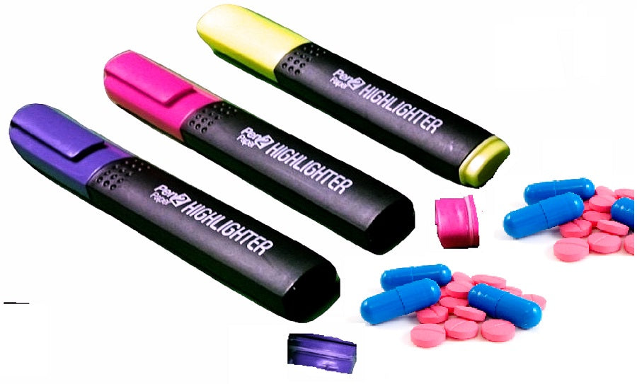 Highlighter Pill Box Stash, Cheeky Ninjas Originals,Cheeky Ninjas