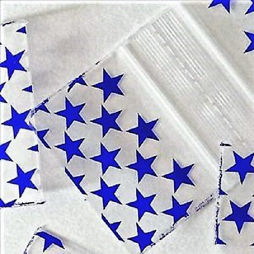 Blue Stars Designer Zip-lock Baggies, Apple Mini Ziplock Bags,Cheeky Ninjas