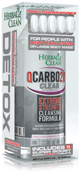 Herbal Clean QCarbo 20 Detoxing Formula - Cheeky Ninjas