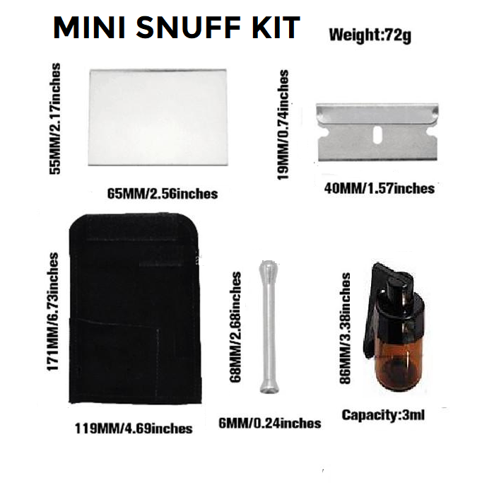 Travel Size Mini Snuff Kit, Snuff Stuff,Cheeky Ninjas