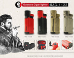 Singal Flame Cigar Lighter With Cigar Punch 1122