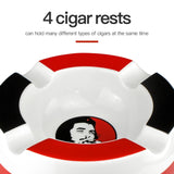 Guevara Home Portable Ceramic Cigar Ashtray 4 Holder