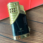 Cigar Lighter 3 Torch Jet Flame Refillable With Punch