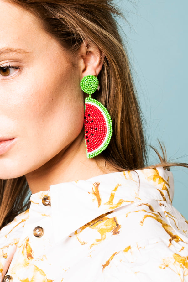 Loulou Earrings - Watermelon
