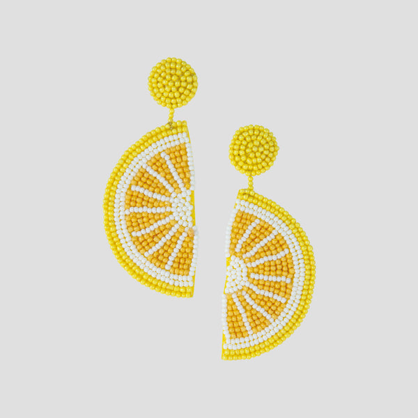 Loulou Earrings - Lemon
