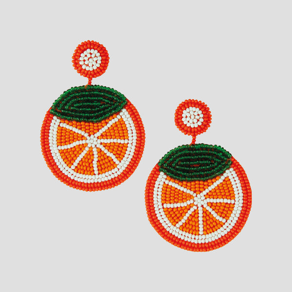 Loulou Earrings - Orange