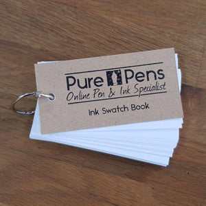 pure pens ink swatch book 75 pages