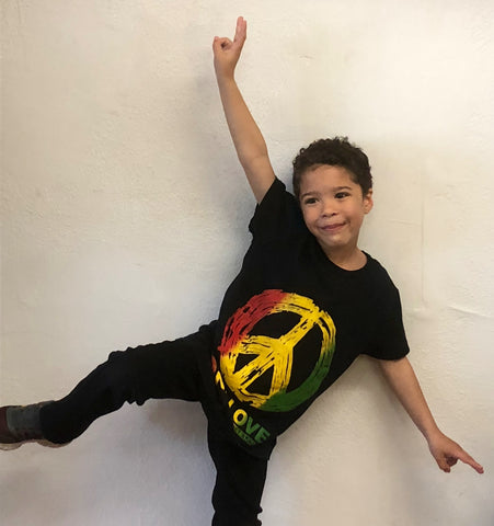 "Kid's ""One Love"" Peace Tee"