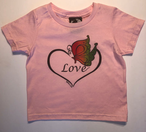 "100% Cotton Kids' ""Love"" Butterfly Tee Shirt"