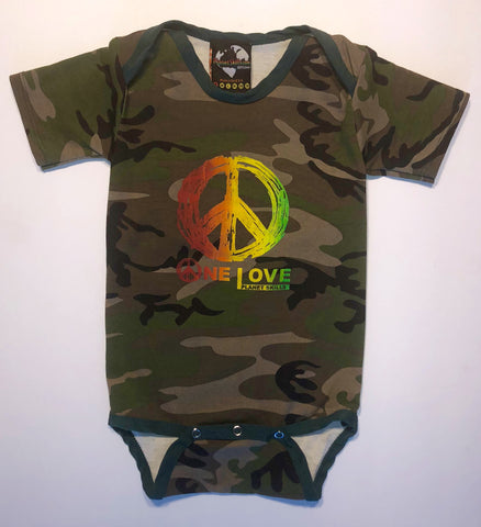"Kids ""One Love"" Camo Onesie"