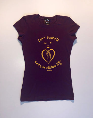 """Love Yourself And You Will Love Life"" Yoga Tee"
