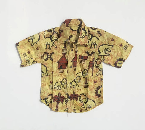 100% Cotton Kids Safari Short Sleeve Button-Down