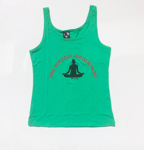 """Inhale Your Future and Exhale Your Past"" Yoga Tank Top"