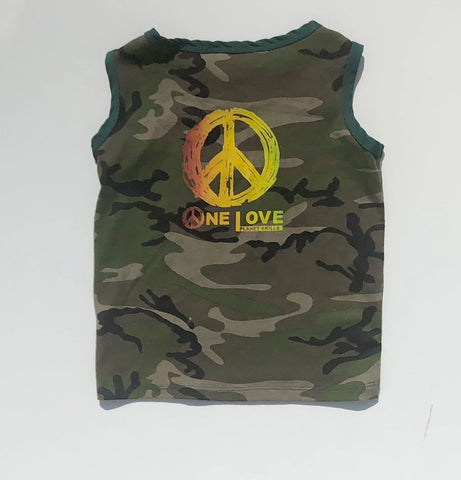 "Kids' ""One Love"" Camo Muscle Shirt"