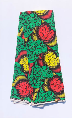 Green, Red, & Yellow African Fabric