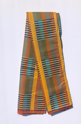 Multi-Colored Striped African Fabric