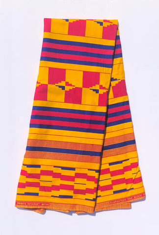 Pink & Yellow African Fabric